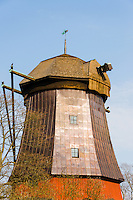 Sweden, Stockholm. Prins Eugens Waldemarsudde, the scenic former home of the Swedish Prince Eugen. An old Windmill.