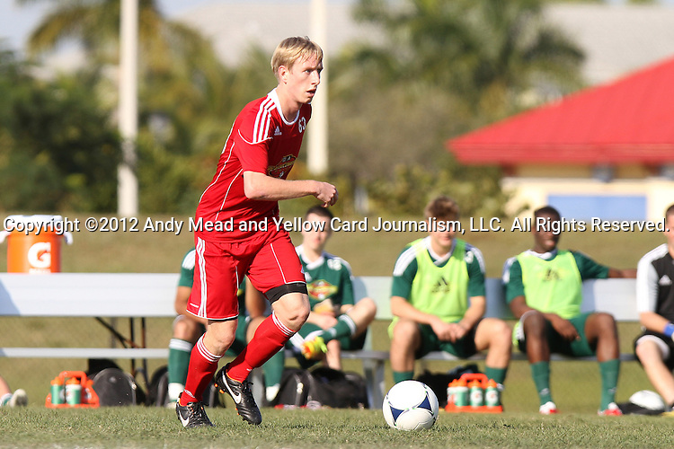 06 January 2012: Greg Jordan (Creighton). The 2012 MLS Player Combine was held on the cricket oval at Central Broward Regional Park in Lauderhill, Florida.