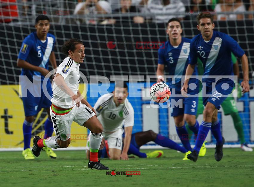 Oribe Peralta de Mexico ,durante partido entre las selecciones de Mexico y Guatemala  de la Copa Oro CONCACAF 2015. Estadio de la Universidad de Arizona.<br /> Phoenix Arizona a 12 de Julio 2015.