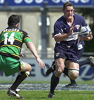 01/06/2002.Sport -Rugby  Union.Zurich Championship - Semi final.Bristol Shoguns_vs_Northampton Saints.David Rees   [Mandatory Credit, Peter Spurier/ Intersport Images].