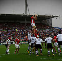 Rugby World Cup Hamilton Wales v Fiji  Pool D 02/10/2011.Sam Warburton (Wales)   .Photo Mike Frey Fotosports International/AMN