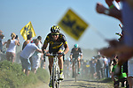 Sylvain Chavanel (FRA) Direct Energie on pave sector 14 Beuvry to Orchies during the 115th edition of the Paris-Roubaix 2017 race running 257km Compiegne to Roubaix, France. 9th April 2017.<br /> Picture: ASO/P.Ballet | Cyclefile<br /> <br /> <br /> All photos usage must carry mandatory copyright credit (&copy; Cyclefile | ASO/P.Ballet)