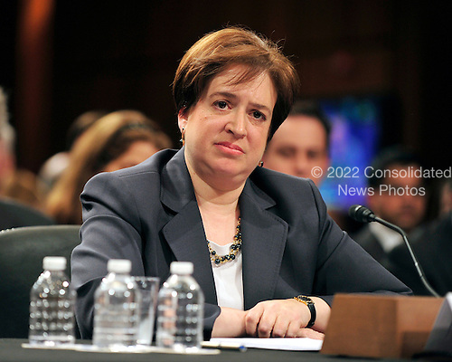 United States Solicitor General Elena Kagan testifies at her confirmation hearing as Associate Justice of the United States Supreme Court before the U.S. Senate Judiciary Committee in Washington, D.C. on Tuesday, June 29, 2010..Credit: Ron Sachs / CNP