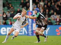 Twickenham, GREAT BRITAIN, Left, Peter HEWAT, tackles by Quins George ROBSON, during the EDF Energy Cup rugby match,  Harlequins vs London Irish, at Twickenham Stoop, Surrey on Sat 25.10.2008 [Photo, Peter Spurrier/Intersport-images]