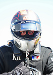 May 6, 2012; Commerce, GA, USA: NHRA top fuel dragster driver Shawn Langdon during the Southern Nationals at Atlanta Dragway. Mandatory Credit: Mark J. Rebilas-