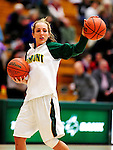 31 January 2010: University of Vermont Catamount guard May Kotsopoulos, a Senior from Waterloo, Ontario, warms up prior to facing the University of New Hampshire Wildcats at Patrick Gymnasium in Burlington, Vermont. The Lady Catamounts defeated the visiting Wildcats 78-64. Mandatory Credit: Ed Wolfstein Photo