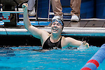 23 MAR 2012: Logan Todhunter of Williams College celebrates after the 200 yard butterfly event during the Division III Men's and Women's Swimming and Diving Championship held at the IU Natatorium in Indianapolis, IN.  Todhunter won the event with a new NCAA record time of 1:55:66.  Joe Robbins/NCAA
