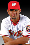 25 February 2007: Washington Nationals infielder D'Angelo Jimenez poses for his Photo Day portrait at Space Coast Stadium in Viera, Florida.<br /> <br /> Mandatory Photo Credit: Ed Wolfstein Photo<br /> <br /> Note: This image is available in a RAW (NEF) File Format - contact Photographer.