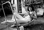 Queen 1975 Freddie Mercury at Ridge Farm in Surrey August 1st 1975.<br /> &copy; Chris Walter