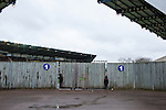 Oxford United 1 Accrington Stanley 2, 20/02/2016. Kassam Stadium, League Two. Oxford's home ground is the Kassam Stadium in Oxford and has a capacity of 12,500. United moved to the stadium in 2001 after leaving the Manor Ground, their home for 76 years. Trying to grab a glimpse of the action from outside the Kassam Stadium. Photo by Simon Gill.