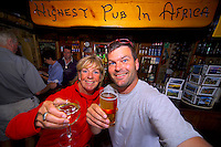 SANI PASS, SOUTH AFRICA, DECEMBER 2004. Mountainbiking to the Sani pass between South Africa and Lesotho and have a drink in the highest pub in Africa. South African Nature offers some of the world's best adrenaline sports and outdoor challenges. Photo by Frits Meyst/Adventure4ever.com