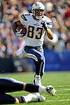 19 October 2008:  San Diego Chargers' wide receiver Vincent Jackson makes a 31-yard gain in the third quarter against the Buffalo Bills at Ralph Wilson Stadium in Orchard Park, NY. The Bills defeated the Chargers 23-14 and maintain their first place position in the AFC East with a 5 and 1 record...Mandatory Photo Credit: Ed Wolfstein Photo