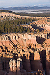 Bryce Canyon National Park, Utah; late afternoon views of Bryce Amphitheater with snow from Inspiration Point in winter