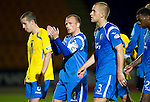 St Johnstone v Queen of the South...21.09.10  CIS Cup 3rd Round.Jody Morris applauds the fans at full time.Picture by Graeme Hart..Copyright Perthshire Picture Agency.Tel: 01738 623350  Mobile: 07990 594431