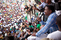 Haitian presidential candidate Jude Celestin campaigns on Thursday, November 25, 2010 in the Delmas neighborhood of Port-au-Prince, Haiti.