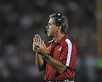 Alabama Coach Nick Saban at Vaught-Hemingway Stadium in Oxford, Miss. on Saturday, October 14, 2011. Alabama won 52-7.