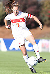 07 November 2010: Maryland's Caitlin McDowell. The Wake Forest University Demon Deacons defeated the University of Maryland Terrapins 3-1 on penalty kicks after the game ended in a 1-1 tie after overtime at WakeMed Stadium in Cary, North Carolina in the ACC Women's Soccer Tournament championship game.