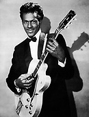 """CHUCK BERRY - Charles Edward Anderson """"Chuck"""" Berry (October 18, 1926 – March 18, 2017)- circa 1956.  Photo: MMMedia Archive/IconicPix"""