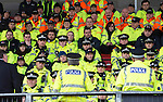 St Johnstone v Celtic.....26.12.13   SPFL<br /> Supt Kevin Lynch (centre back to camera) briefs police officers and stewards prior to kick off at McDiarmid Park.<br /> Picture by Graeme Hart.<br /> Copyright Perthshire Picture Agency<br /> Tel: 01738 623350  Mobile: 07990 594431