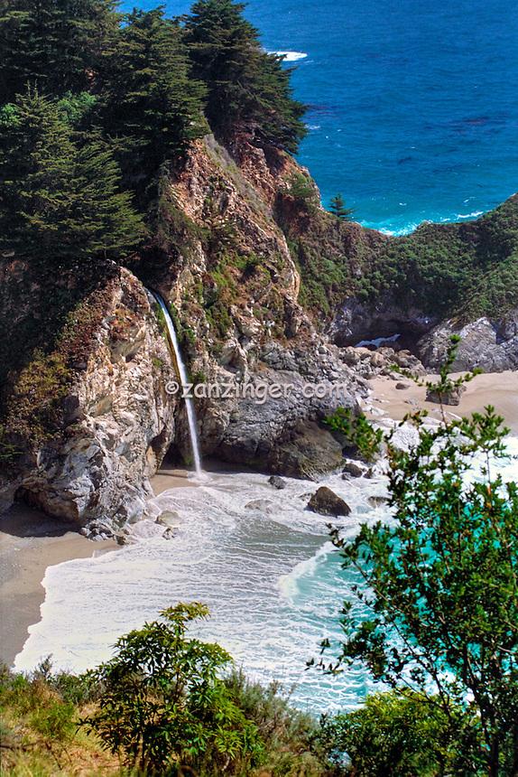 Julia Pfeiffer Burns, State Park, McWay Falls, Big Sur, California ,CGI Backgrounds,