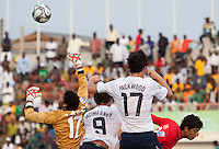William Packwood and Jack McInerney go up for the ball. US Under-17 Men's National Team defeated United Arab Emirates 1-0 at Gateway International  Stadium in Ijebu-Ode, Nigeria on November 1, 2009.