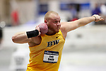 NAPERVILLE, IL - MARCH 11: Cody Smith of Baldwin Wallace University competes in the shot put at the Division III Men's and Women's Indoor Track and Field Championship held at the Res/Rec Center on the North Central College campus on March 11, 2017 in Naperville, Illinois. (Photo by Steve Woltmann/NCAA Photos via Getty Images)