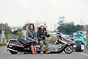 "Megumi Takada & Hiroe Kobayashi on Honda ""Fusion 3000"" ( Bike Shop Freedom )."