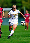 19 September 2010: University of Vermont Catamount midfielder Caitlin McGowan, a Senior from Rye, NY, in action against the Colgate University Raiders at Centennial Field in Burlington, Vermont. The Raiders scored a pair of second half goals two minutes apart to notch a 2-0 victory over the Lady Cats in non-conference women's soccer play. Mandatory Credit: Ed Wolfstein Photo