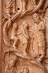 Detail of Baptistry carving  - Piazza Del Duomo - Palma Italy.