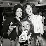 Gilda Radner and Laraine Newman of Saturday Night Live visit Andrew Gold backstage at the Bottom Line in April 1978.