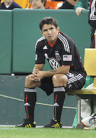 Jaime Moreno #99 of D.C. United substituted in the eighty-sixth minute during an MLS match against Toronto FC that was the final appearance of D.C. United's Jaime Moreno at RFK Stadium, in Washington D.C. on October 23, 2010. Toronto won 3-2.