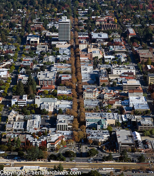 aerial photograph Palo Alto, California