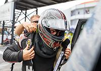 Apr 22, 2017; Baytown, TX, USA; NHRA funny car driver Jonnie Lindberg during qualifying for the Springnationals at Royal Purple Raceway. Mandatory Credit: Mark J. Rebilas-USA TODAY Sports