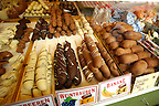 Christmas biscuits and food specialities  - Market stalls - Nurnberg - Germany