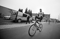 Kuurne-Brussel-Kuurne 2012<br /> Laurens De Vreese off to work