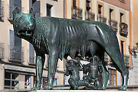 Romulus and Remus statue, Segovia, Castile and Leon, Spain. Picture by Manuel Cohen
