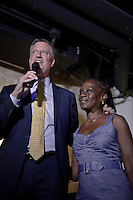 Democratic mayoral candidate Bill de Blasio and His wife Chirlane attends a campaign event in New York August 18, 2013 by Kena Betancur / VIEWpress