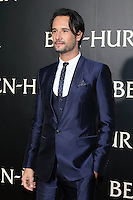 """HOLLYWOOD, CA - AUGUST 16: Rodrigo Santoro at the LA Premiere of the Paramount Pictures and Metro-Goldwyn-Mayer Pictures title """"Ben-Hur"""", at the TCL Chinese Theatre IMAX on August 16, 2016 in Hollywood, California. Credit: David Edwards/MediaPunch"""