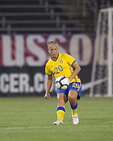 Sweden defender Malin Levenstad (20). The US Women's national team beat Sweden, 3-0, at Rentschler Field on July 17, 2010.