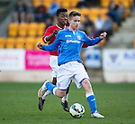 St Johnstone Academy v Manchester United Academy....17.04.15   <br /> Gavin Brown and Angel Gomes<br /> Picture by Graeme Hart.<br /> Copyright Perthshire Picture Agency<br /> Tel: 01738 623350  Mobile: 07990 594431