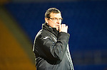 St Johnstone v Hearts..15.12.12      SPL.Tommy Wright looks on.Picture by Graeme Hart..Copyright Perthshire Picture Agency.Tel: 01738 623350  Mobile: 07990 594431