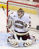 Parker Milner (BC - 35) - The Boston College Eagles defeated the University of Massachusetts-Lowell River Hawks 2-1 on Saturday, February 13, 2010, at Conte Forum in Chestnut Hill, Massachusetts.