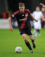 FUSSBALL   CHAMPIONS LEAGUE   SAISON 2011/2012  Bayer 04 Leverkusen - FC Valencia           19.10.2011 Sven BENDER (Bayer 04 Leverkusen) Einzelaktion am Ball