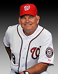 25 February 2011: John McLaren, Bench Coach for the Washington Nationals, poses for his portrait on Photo Day at Space Coast Stadium in Viera, Florida. Mandatory Credit: Ed Wolfstein Photo