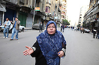 A protester in downtown Cairo.