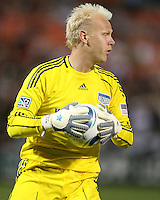 Jimmy Nielsen #1 of the Kansas City Wizards during an MLS match against D.C. United at RFK Stadium on May 5 2010, in Washington DC. United won 2-1