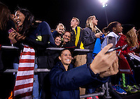 Ali Krieger, Fans. The USWNT tied New Zealand, 1-1, at an international friendly at Crew Stadium in Columbus, OH.