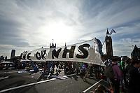 "09.10.2011 - ""Block The Bridge"" - Save The NHS Demonstration"