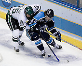 Jim McKenzie (Michigan State - Woodbury, MN), Bret Tyler (University of Maine - Maynard, MA) - The Michigan State Spartans defeated the University of Maine Black Bears 4-2 in their 2007 Frozen Four semi-final on Thursday, April 5, 2007, at the Scottrade Center in St. Louis, Missouri.
