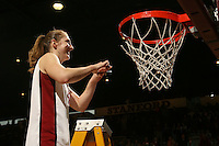 25 February 2007: Kristen Newlin during Stanford's 56-53 win over USC at Maples Pavilion in Stanford, CA.
